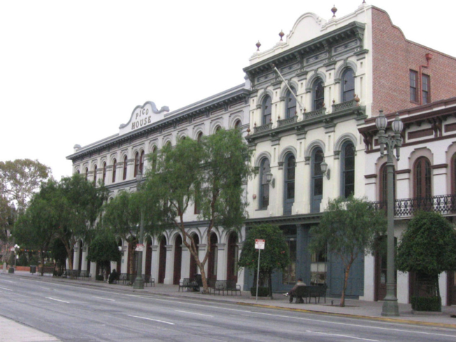 Pico House is one of the historic buildings that's part of El Pueblo de Los Angeles Historical Monument