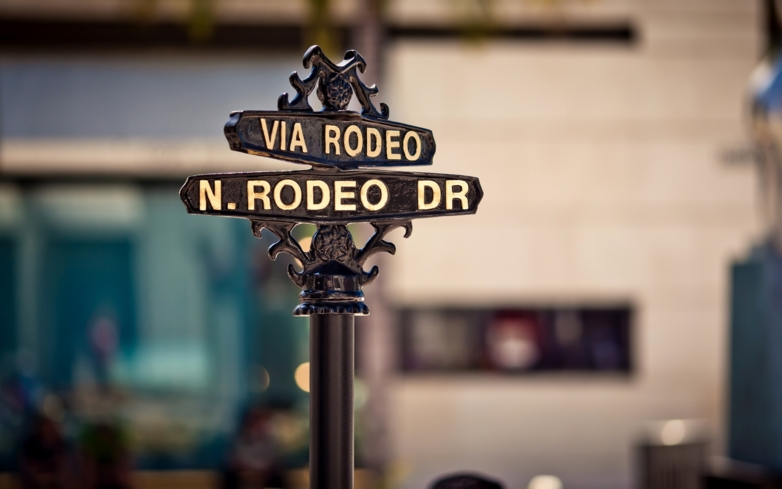 The infamous, oft-photographed Rodeo Drive street sign