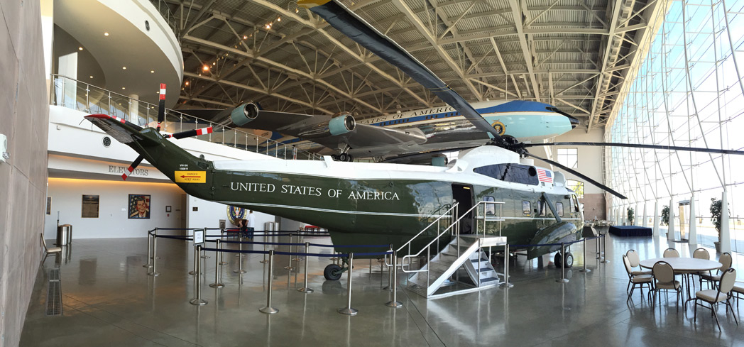 Inside the Air Force One Pavilion at The Ronald Reagan Presidential Library