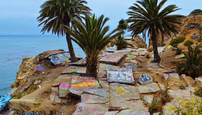 The Sunken City in San Pedro, California