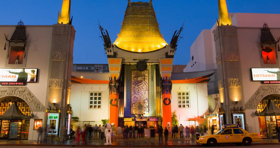 An exterior view of the TCL Chinese Theatre, formerly known as Grauman's Chinese Theatre