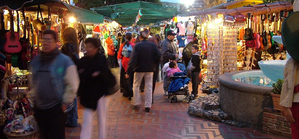 Olvera Street in East Los Angeles