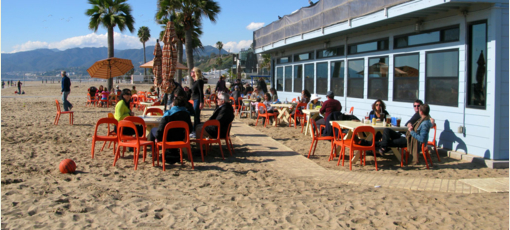 Back on the Beach Cafe in Santa Monica, one of GAYOT's Top 10 Beachside Restaurants in Los Angeles