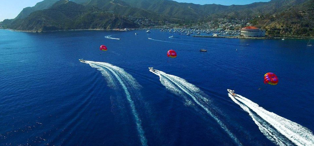 Island Water Charters' parasailing takes you 800 feet above sea level