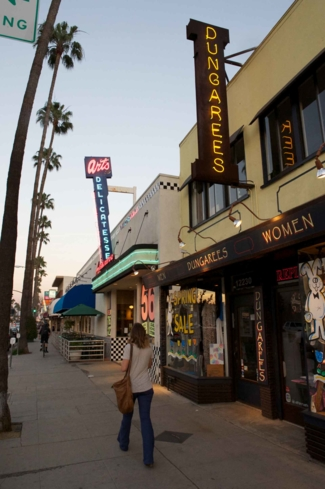 Shops along Ventura Boulevard in Studio City