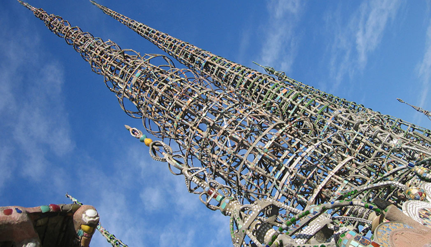 Watts Towers built by Italian immigrant Simon Rodia between 1921 and 1954