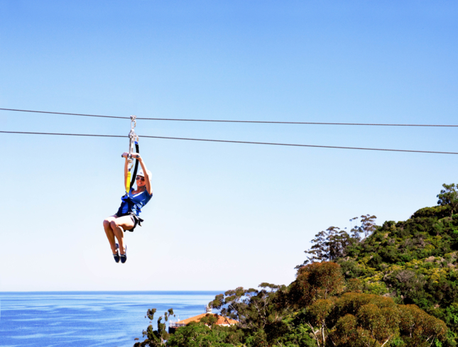 Take a zip line tour of Catalina Island, one of GAYOT's Top 10 Things to Do on Catalina Island