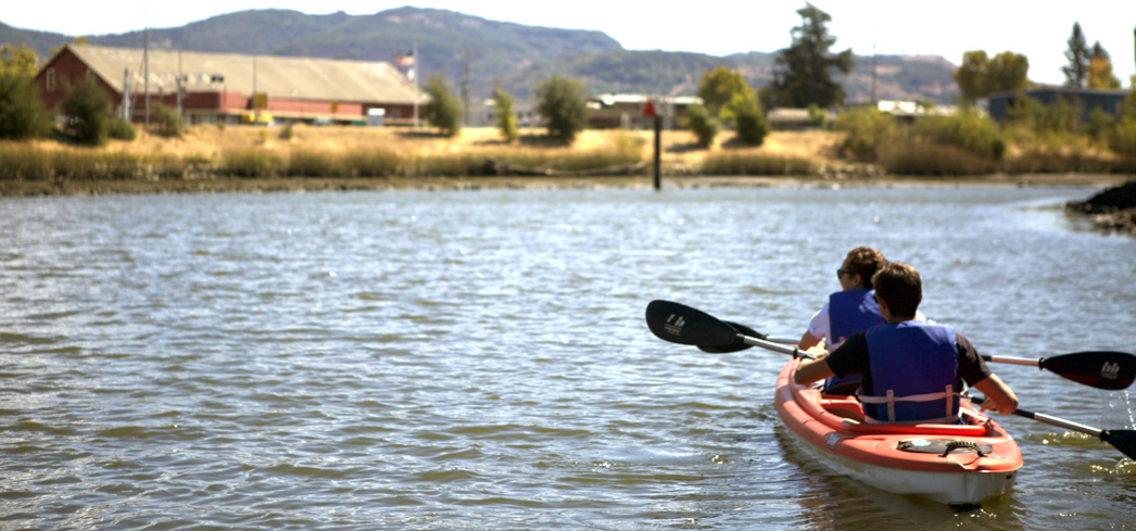 Tour the Napa River on kayaks