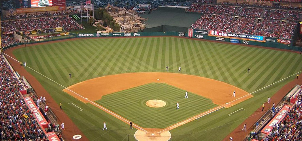 Catch a baseball game at Angel Stadium of Anaheim
