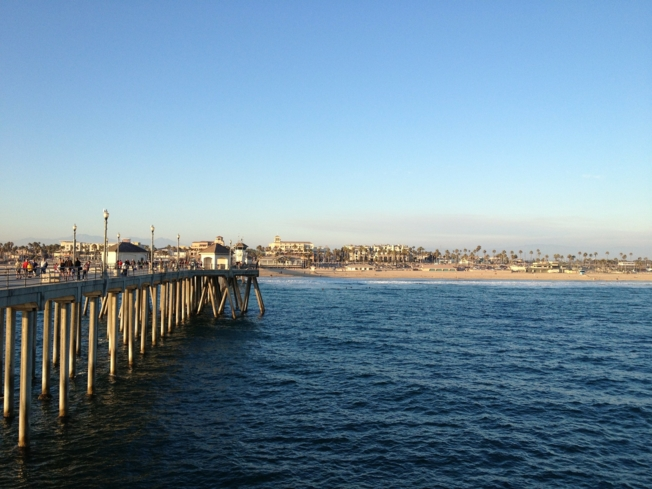 A view of Huntington Beach, California