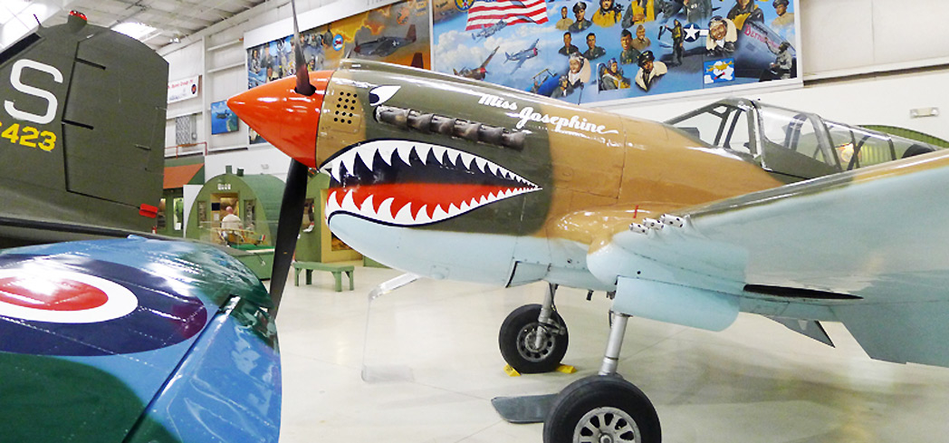 """Miss Josephine"" P40 nose art at the Palm Springs Air Museum"
