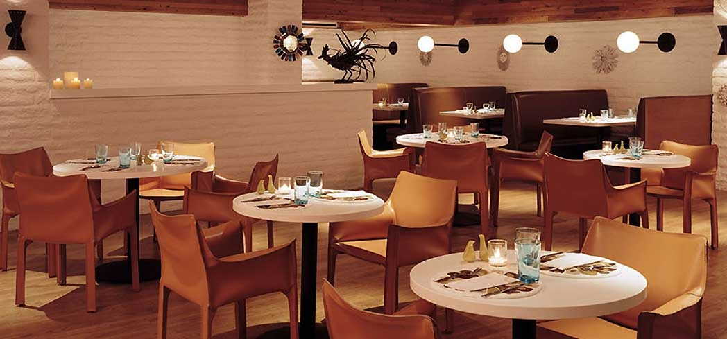 The dining area of Norma's at the Parker Palm Springs