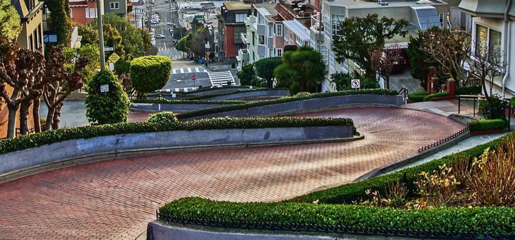 San Francisco's most recognizable street is also one of its most crooked