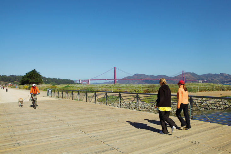 Thanks to its compact size, San Francisco is easy to explore by foot