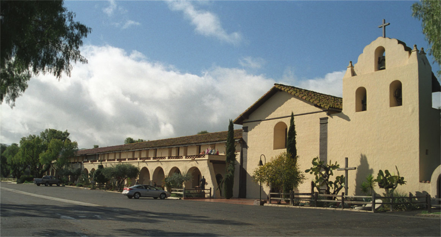 Mission Santa Inés in Solvang, California