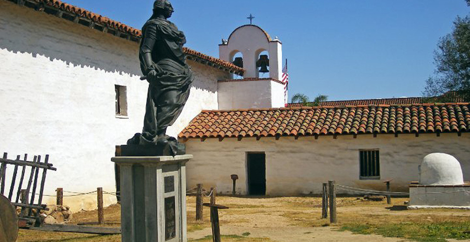 Statue of Carlos III, King of Spain at El Presidio de Santa Barbara State Historic Park