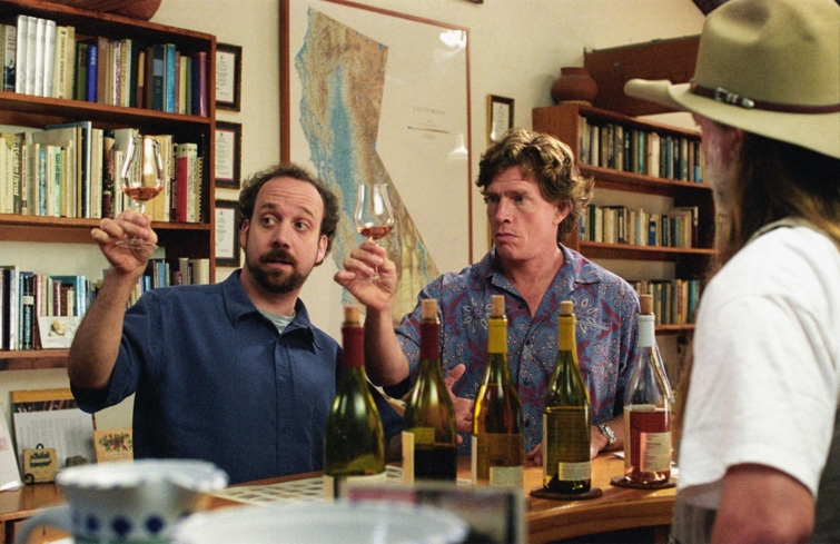 Paul Giamatti and Thomas Haden Church in the 2004 film Sideways