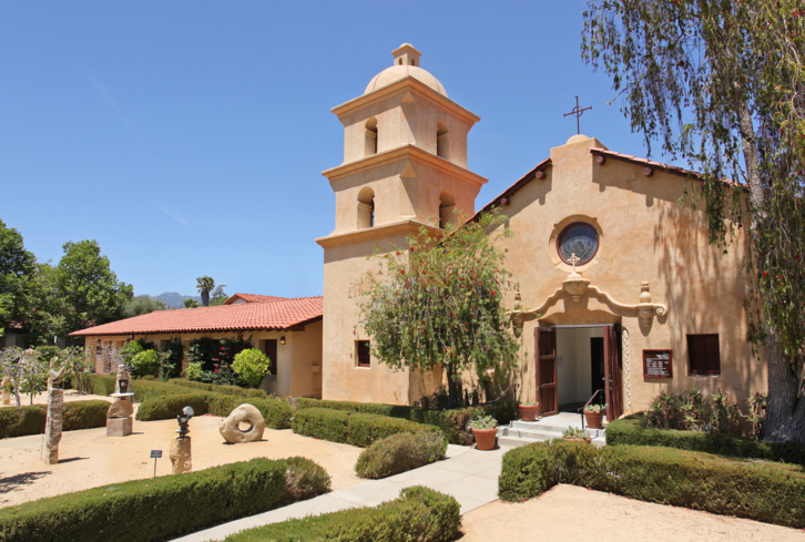 The Ojai Valley Museum is housed in a mission-style building