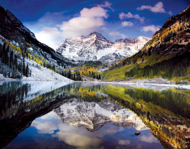 A view of the Maroon Bells in Colorado