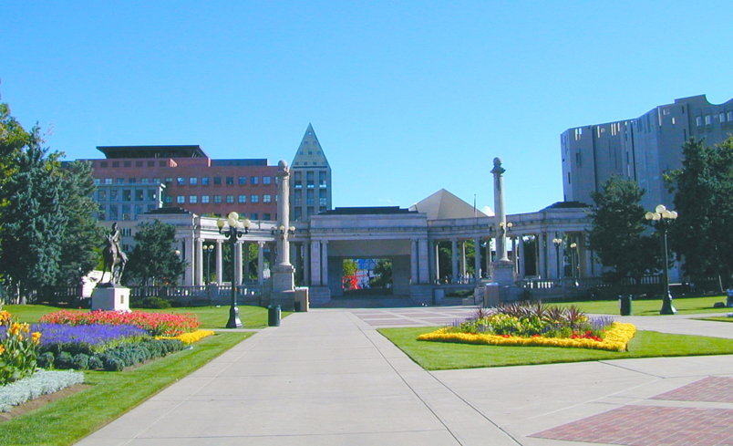 A view of Civic Center Park in Denver