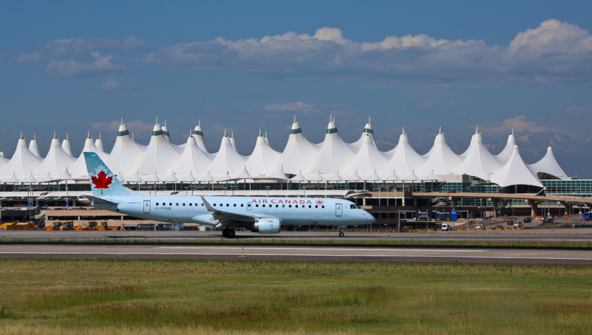 A view of the Teflon-coated roof at Denver International Airport