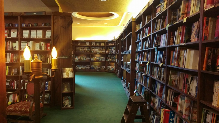 A peek inside Tattered Cover Bookstore in Denver