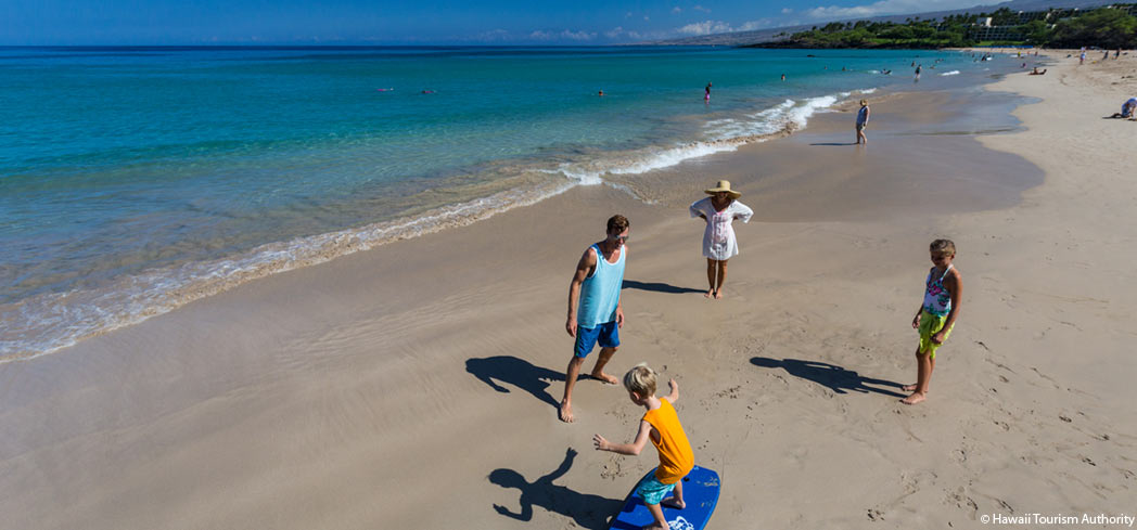 Hapuna is a popular beach along the Kohala Coast of the Big Island