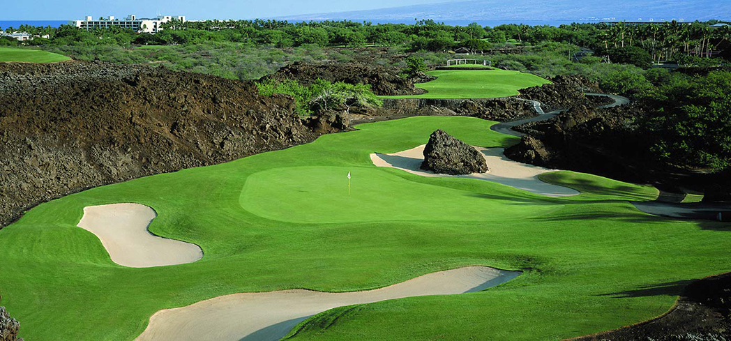 The North Course at the Mauna Lani Resort is truly a one-of-a-kind experience