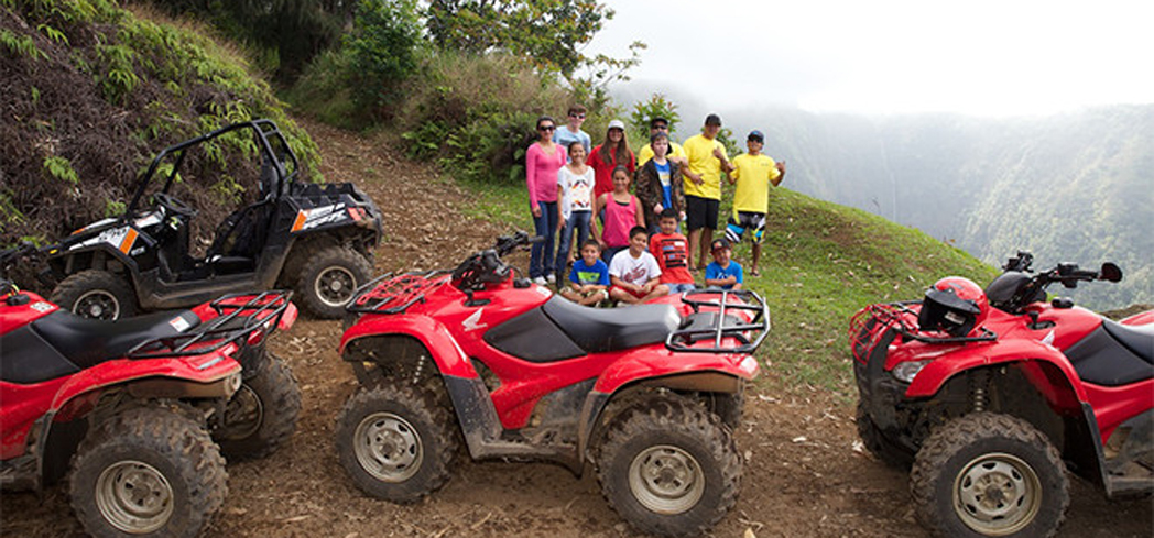 Experience an amazing adventure engrossed in Hawaiian culture aboard ATVs or Buggies