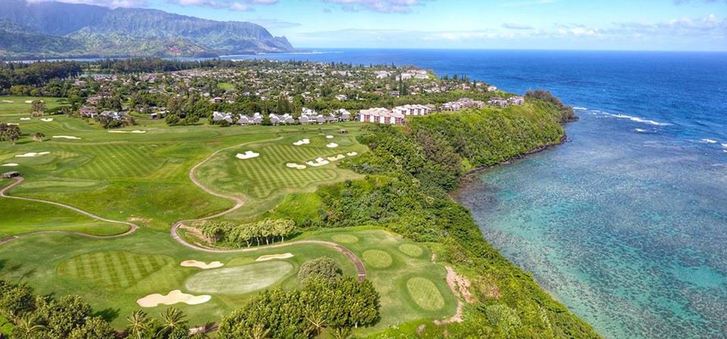 The 18-hole, par 72 Makai Course is visually stunning