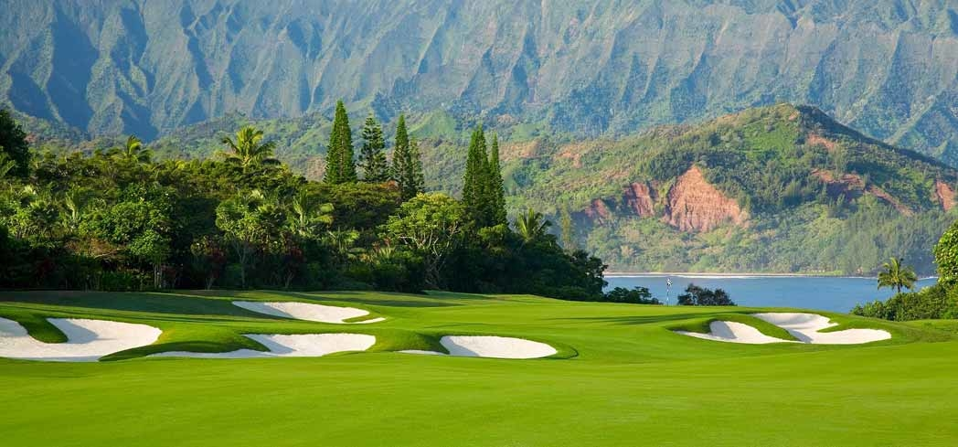 Enjoy breathtaking ocean and mountain views while playing at the Makai Course at The St. Regis Princeville