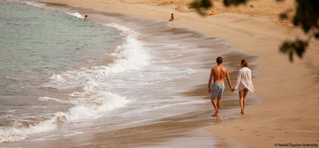 Enjoy a stroll along  Manele Bay