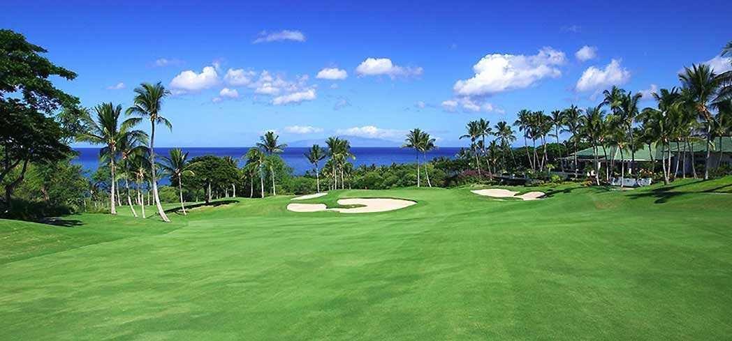 Take in views of the Molokini islet while playing golf at The Gold Course at Wailea