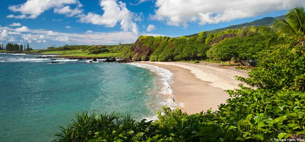 The peaceful setting at Hamoa Beach in Maui
