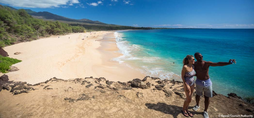 Get great photo ops while at Maui's Makena Beach