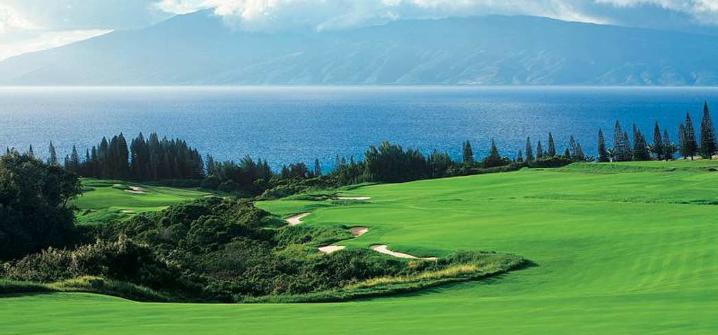 The Plantation Course at Kapalua Resort offers a stunning setting for a day on the green