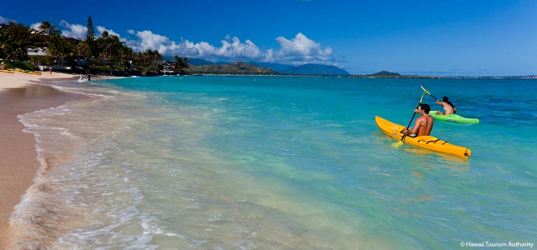 Kailua Beach Park is a mecca for windsurfing, parasailing, kayaking and swimming