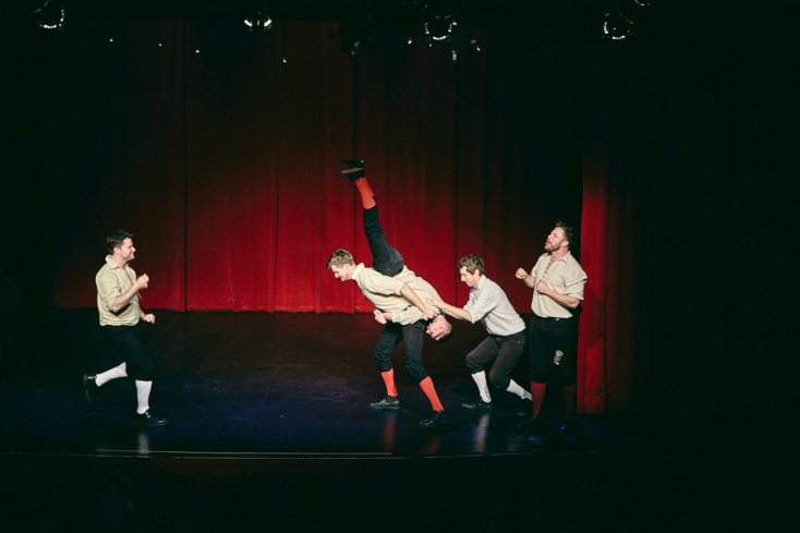 A performance at The Improvised Shakespeare Company in Chicago