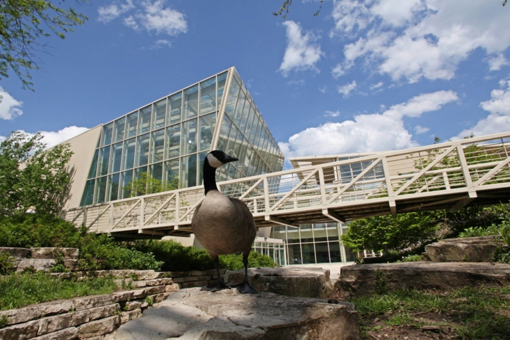 An exterior view of the Peggy Notebaert Nature Museum
