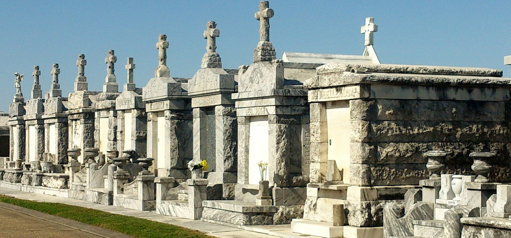You'll find tombs in the graveyards of New Orleans that date back to the 18th century