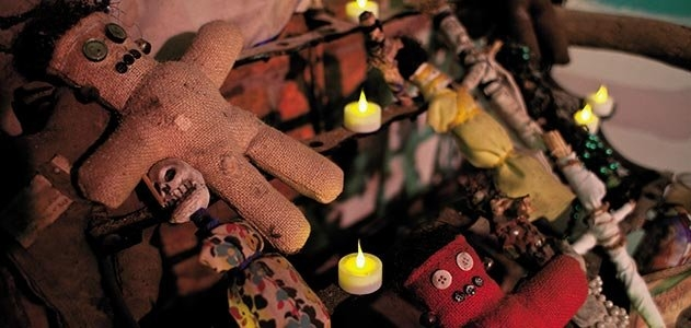 The museum contains fascinating Voodoo artifacts and altar displays
