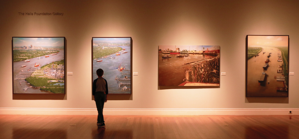 The museum features both contemporary and late artists from the American South