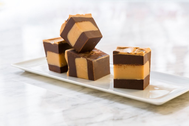 Chocolate Peanut Butter Fudge at Cabot's Candy
