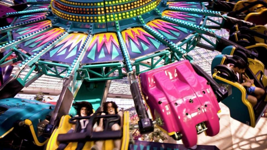One of the rides at Adventuredome inside Circus Circus
