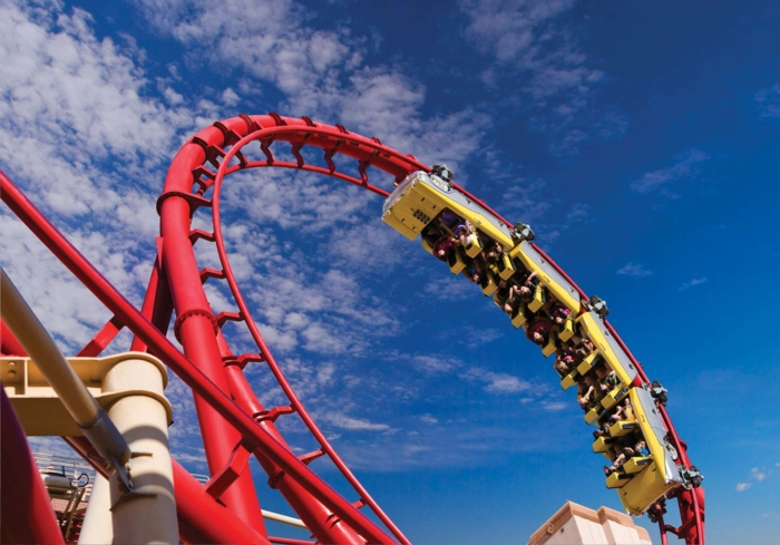 Get your thrills on The Big Apple Coaster & Arcade