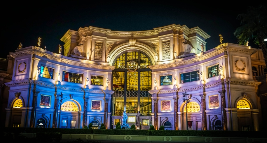 The Forum Shops at Caesars Palace is a top shopping destination in Las Vegas