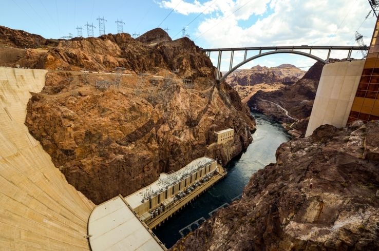 Hoover Dam in southern Nevada is a man-made marvel