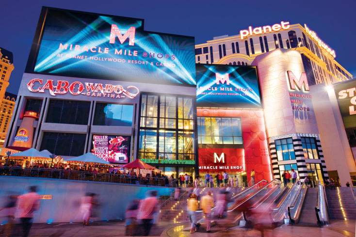 Shop, dine and be entertained at the Miracle Mile Shops in Las Vegas