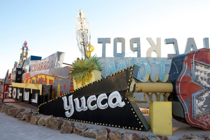 Signs on display at The Neon Museum in Las Vegas, Nevada