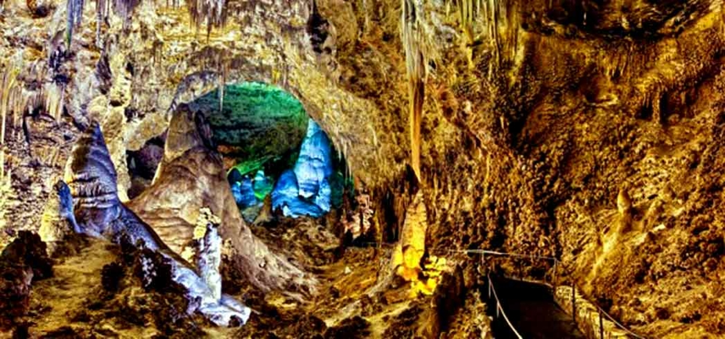 Carlsbad Caverns National Park has 119 absolutely marvelous caves formed by sulfuric acid that has eaten away at the limestone